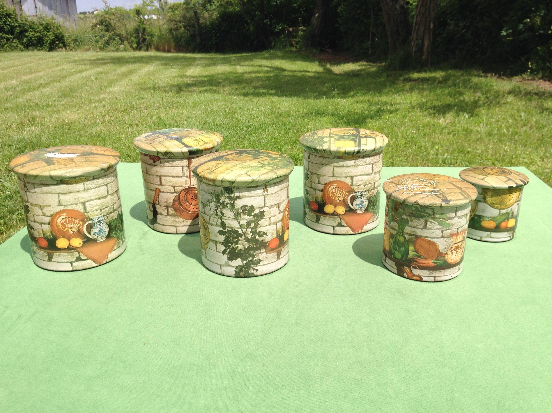 Küche Kanister Kanister Kanister Set Vorratsdosen Jahrgang | Etsy