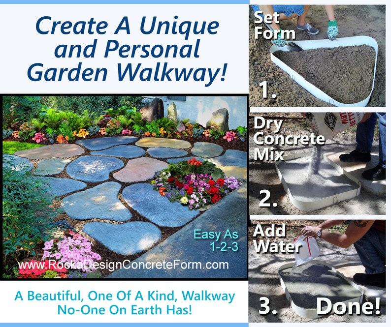 Stepping Stone Walk Maker Garden Path Mold image 0