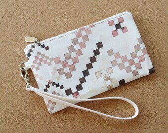The Woven in Pink - Watercolour Wristlet