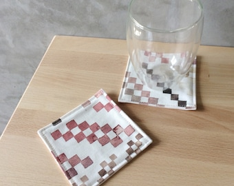 The Woven in Pink - A set of 2 Coasters