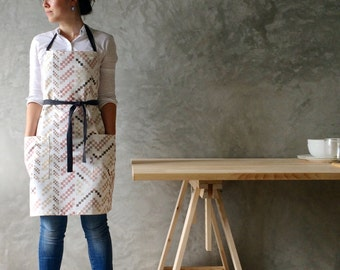 The Woven in Pink - Watercolour Apron