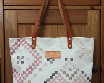 The Woven in Pink - Watercolour Tote Bag