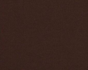 1 Yard Chocolate brown Fabric - Robert Kaufman Kona cotton chocolate brown ONE YARD
