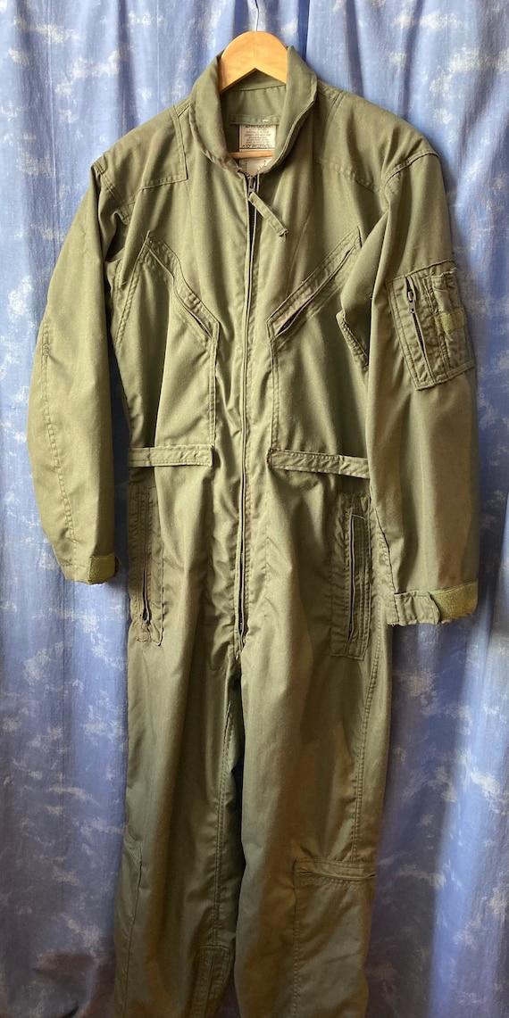 Unisex Medium Large Army Green Military Jumpsuit C
