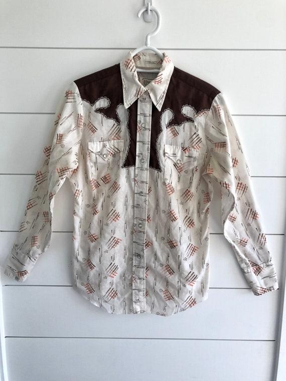 Vintage H Bar C western blouse