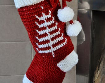 CROCHET PATTERN - The Nordic Dreams Stocking - crochet stocking pattern crochet christmas decoration christmas decor - Instant pdf Download