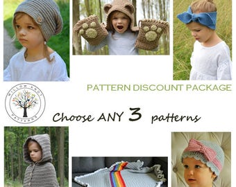 Pattern Discount Package - CHOOSE ANY 3