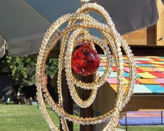 Beautiful Red Crystal Suncatcher
