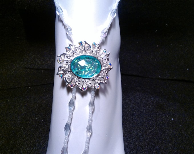 Snow White Pearls, Rice clear cut crystal & with Green opal Barefoot Sandals - wedding special