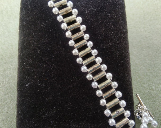 Stirling Silver and Pearl Bracelet