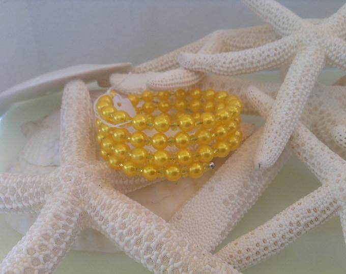 Canary Yellow memory wire Bracelet