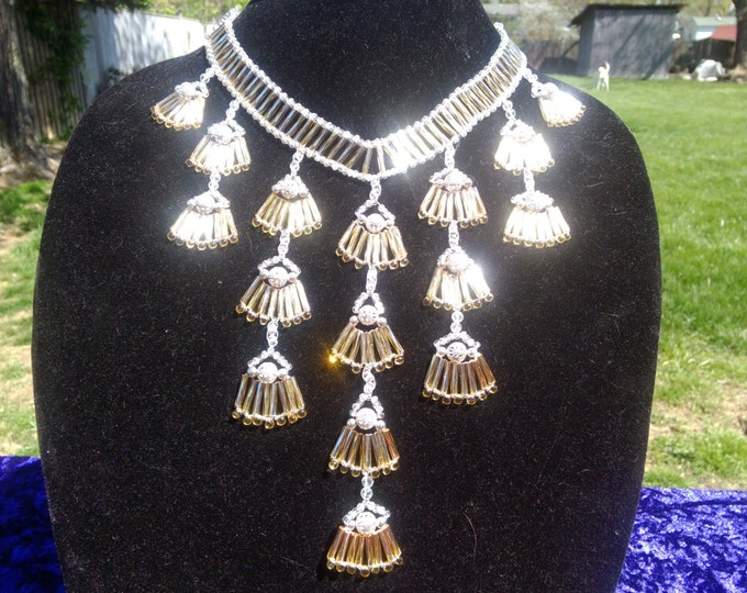 Silver and Gold Statement Necklace