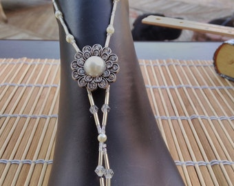 Bicones, Bugle and Pearls Barefoot Sandals