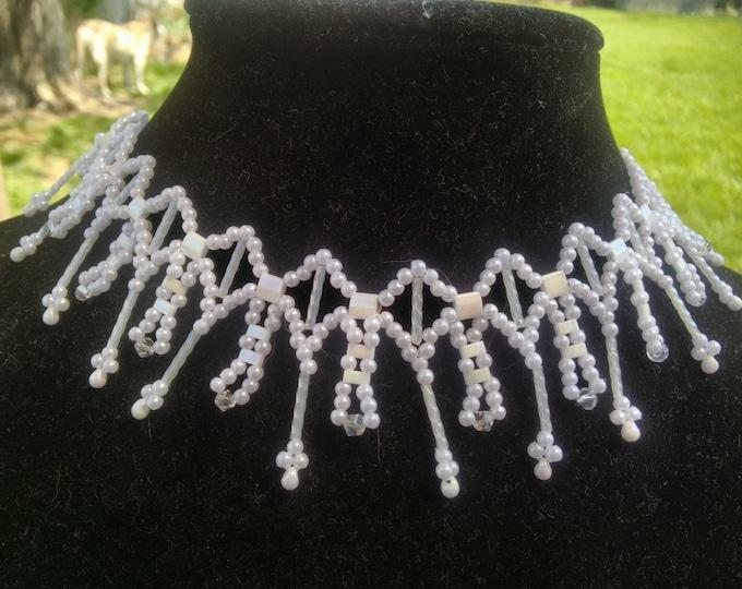 Beautiful Pearl Tila necklace