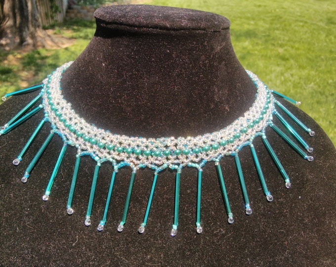 Exceptional Bugle, Fringe and Seed Bead necklace
