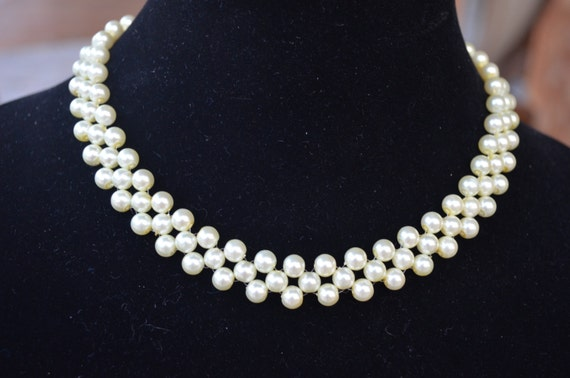Beautiful Ivory Pearl Handmade Necklace Etsy