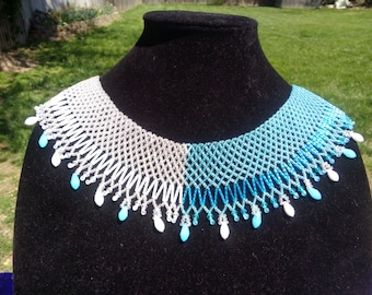 Two Color Collar Statement Necklace