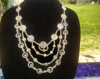 Statement Mother of Pearl necklace