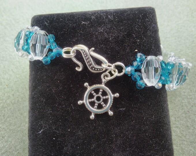 Blue & Clear Crystal Bracelet