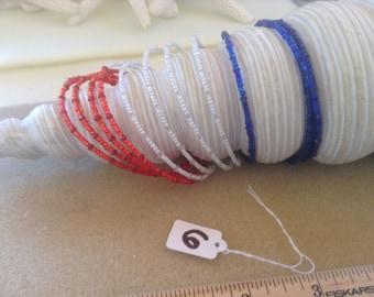 Red, White & Blue memory wire Bracelet