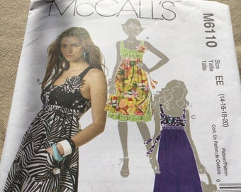 McCall's M6110 Pattern Misses dress in two lengths