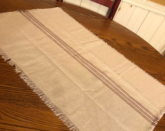 Grain sack type fabric table runners table squares asst sizes fabrics