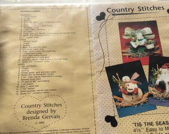 Country Stitches Patterns 'Tis the Season 1992, and Oh Christmas Tree 1990