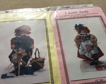 Primitive Raggedy Ann and Andy patterns