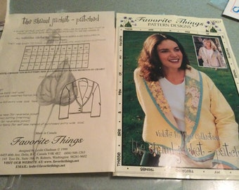 Favorite Things Pattern Designs V007 Shawl Jacket Violets R Blue Collection