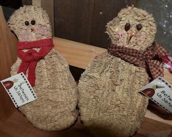 Chenille Stiffened Snowman Ornament