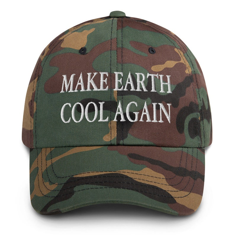Make Earth Cool Again Embroidered Dad Hat  Climate Change Hat image 0