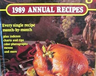 Vintage 1989 Southern Living Annual Recipes, Cookbook, Recipe Book, Kitchen Decor, Book Decor