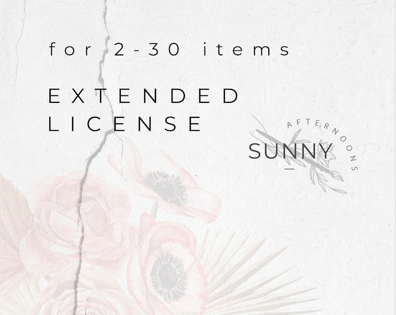 Extended License for 2-30 items from SunnyAfternoonsJpg Commercial Use