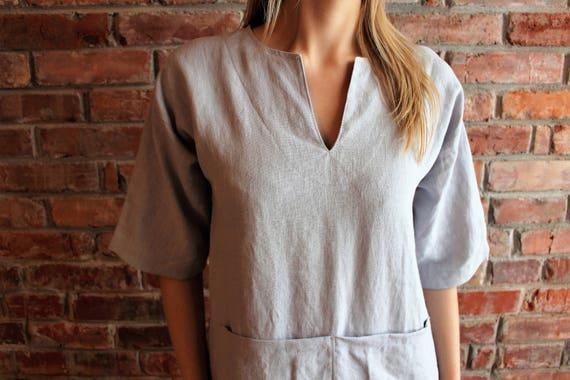 ship dress Caftan Womens Long Short Medium Linen Washed Loose Ready Linen Linen Smock Djellaba Linen Long Sleeve to Robe Linen Kaftan Linen q71xq6vrzw