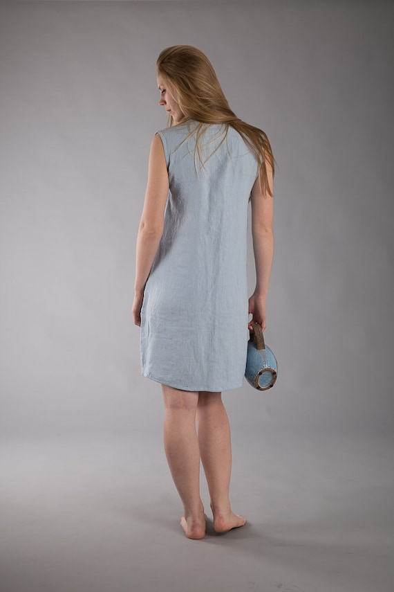 Linen Dress Dress Linen Linen Sleeveless Loose fit Dress Smock Maternity Linen Nightgown Night Linen qEn5Fax