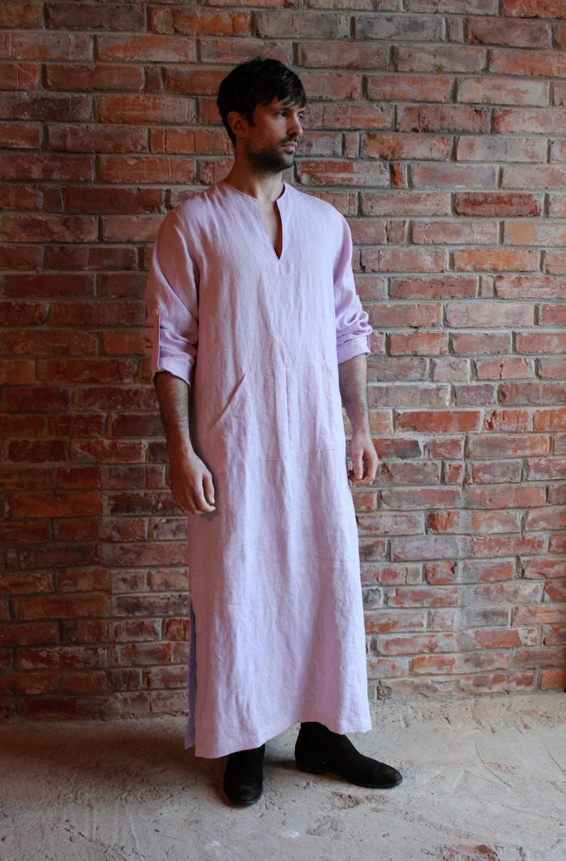 1cf9407f51 Len Kaftan różowy męskie Kaftan Gama Piżam długa koszula