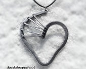 """heart pendant necklace """"LèGAMI"""", handmade, handmade necklace, necklace,"""