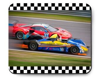 IMSA Ferrari and ORECA race car Mousepad, Endurance racing, Checkered Flag