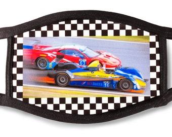 Face mask Ferrari and ORECA IMSA race cars, GT racing