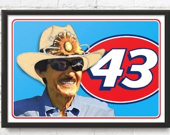 Richard Petty racing art, Winston Cup Champion, King of NASCAR, Stock car