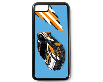 Bucky Lasek race car art phone case, Subaru Rally Team USA WRX STI VT15x, Rallycross racing