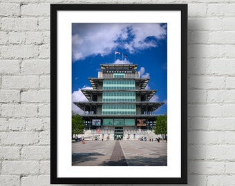Indianapolis Motor Speedway Pagoda, Indy 500, color photograph