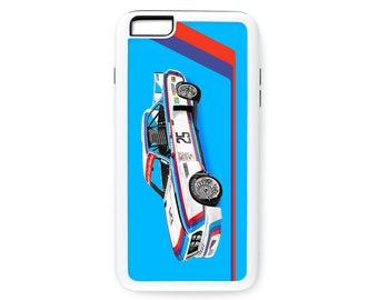 "BMW 3.0 CSL ""Batmobile"" race car art phone case, vintage German, Winner of 1975 12 hours of Sebring, 1970's auto"