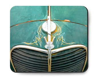 Ford Pickup Truck mouse pad, vintage 1940s car grill, TROG hot rod, Rat Rod