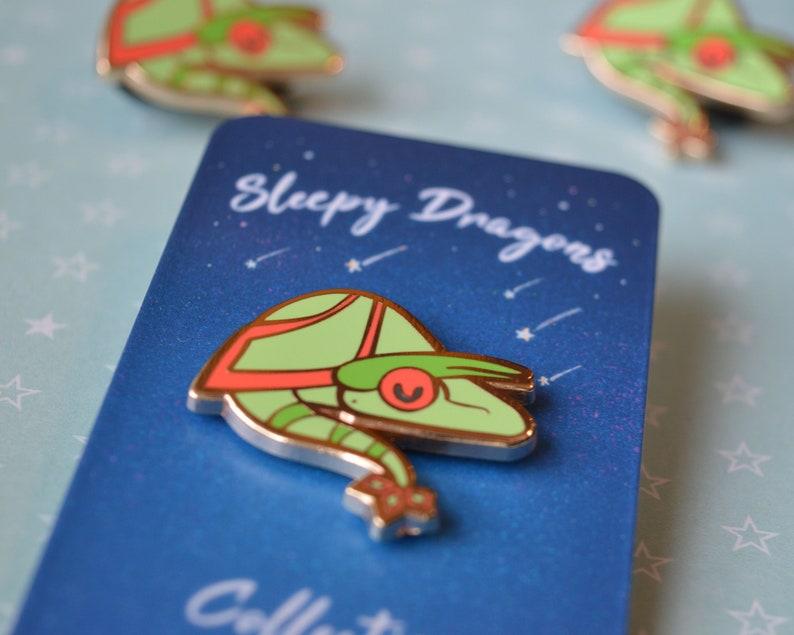 Sleepy Flygon 1.25 Hard Enamel Pin Sleeping Gen 3 Dragon Rosy Gold Hard Enamel Pin