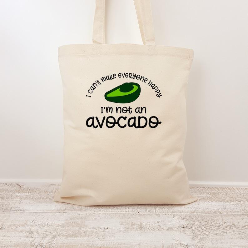 Avocado Bag Canvas Tote Avocado Lover Shopping Bag Eco Bag Avocado Handbag Vegetarian Gift Vegan Gift Slogan Tote Bag