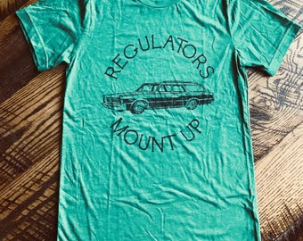 Ready to ship! Regulators Mount Up Station Wagon Mom OR Dad Style! Adult Unisex Super Soft Triblend Adult Small - XXL