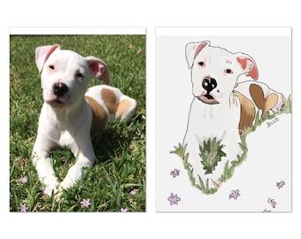 Nursery Wall Art | Pet Portrait |  Portrait Print | Custom Portrait Print | Fashion Art | Illustration | Custom Illustration | Nursery Art