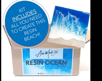 Resin DIY Kit - Beach Box - Kit Includes what you need to create this Art + Tutorial! - Free Shipping!