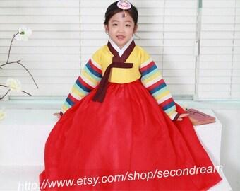 Korean Traditional Costume Hanbok Dress One Year birthday Happy New Year Chuseok Thanksgivingday  sc 1 st  Etsy & Hanbok | Etsy